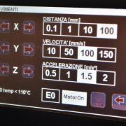 Display di comando stampa 3D